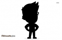 Cute Little Guy Vector Silhouette