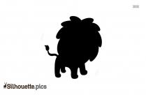 Cute Little Lion Sihouette