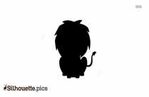 Cute Little Lion Silhouette