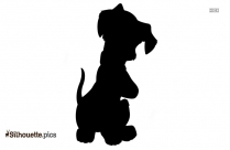 Puppy Silhouette Face