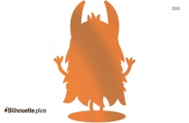 Cute Monster Clipart Silhouette