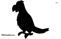 Cardinal Bird Silhouette Drawing
