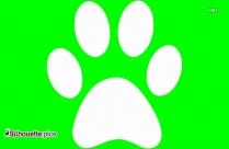 Bobcat Footprint Silhouette Image