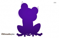 Cute Pet Frog Silhouette Image And Vector