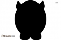 Sleeping Pig Silhouette Vector And Graphics