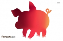 Baby Pig Silhouette Vector