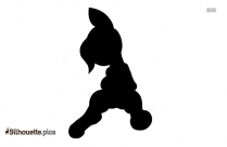 Funny And Cute Easter Baby Bunny Silhouette