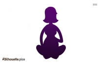 Pregnant Lady Cartoon With Phone Silhouette