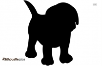 Cartoon Dog Pointing Silhouette