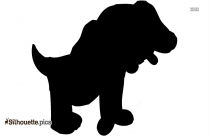 Cute Puppy Dog Clip Art Silhouette