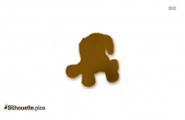Cute Lucky Puppy Silhouette