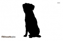 Flat Coated Retriever Dog Breed Silhouette