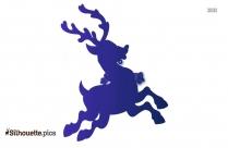 Santa Sleigh And Reindeer Silhouette Drawing