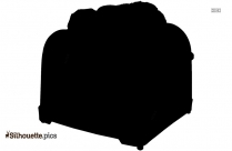 Cute Toaster Clipart Silhouette