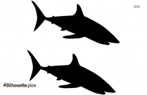 Cute Two Shark Silhouette Art
