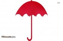 Umbrella Clipart, Open Umbrella Silhouette