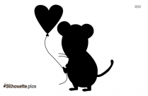 Cute Valentine Cartoons Silhouette Vector And Graphics