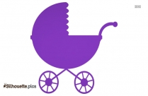 Cute Violet Baby Carriage Free Clip Art