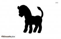 Cute Zebra Logo Silhouette For Download