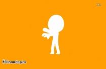 Cute Zombie Silhouette Icon