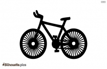 Cycle Clipart Black And White Silhouette