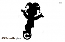 Cycling Clown Silhouette