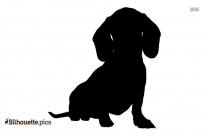 Cartoon Dog Sitting Silhouette Clipart