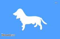 American Foxhound Silhouette, Dog Side View