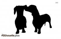Silhouette Bernese Mountain Dog