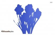Daffodils Silhouette Icon