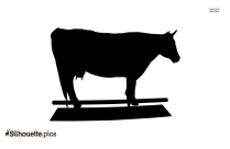 Dairy Cow Silhouette Clip Art