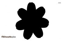 Black And White Tulip Flower Silhouette