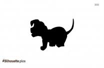 Black And White Pug Silhouette
