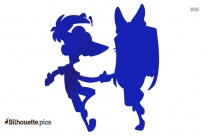 Dance Cartoon Silhouette Illustration