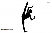 Ballerina Dance Silhouette, Couple Clipart
