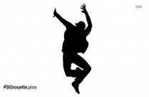 Dance Jumping Silhouette Drawing