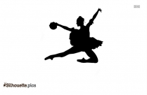 Happy Jumping Silhouette Image