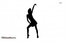 Cartoon Woman Dancing Silhouette