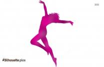 Male Breakdancer Silhouette Vector