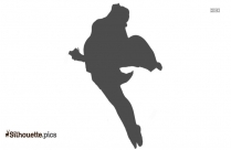 Dancer Pose Clipart || Breakdance Silhouette