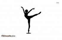 Dancer Pose Silhouette Art