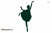 Ballet Dancer Silhouette Black And White