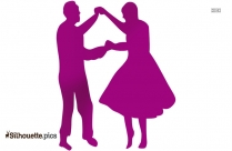 Dancing Couple Fifties Clip Art Silhouette