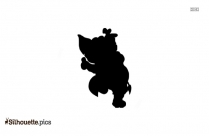 Dancing Elephant Vector Silhouette