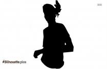Dancing Girl Illustration Silhouette