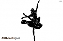 Dancing Girl Silhouette Free Vector