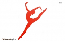 Dancing Girl Silhouette Illustration