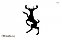 Cute Girl Reindeer Silhouette Picture