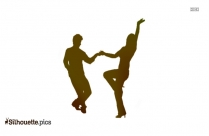 Dancing Silhouette Couple
