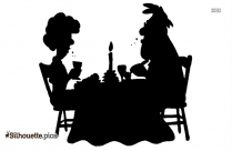 Dating Couple Silhouette Drawing